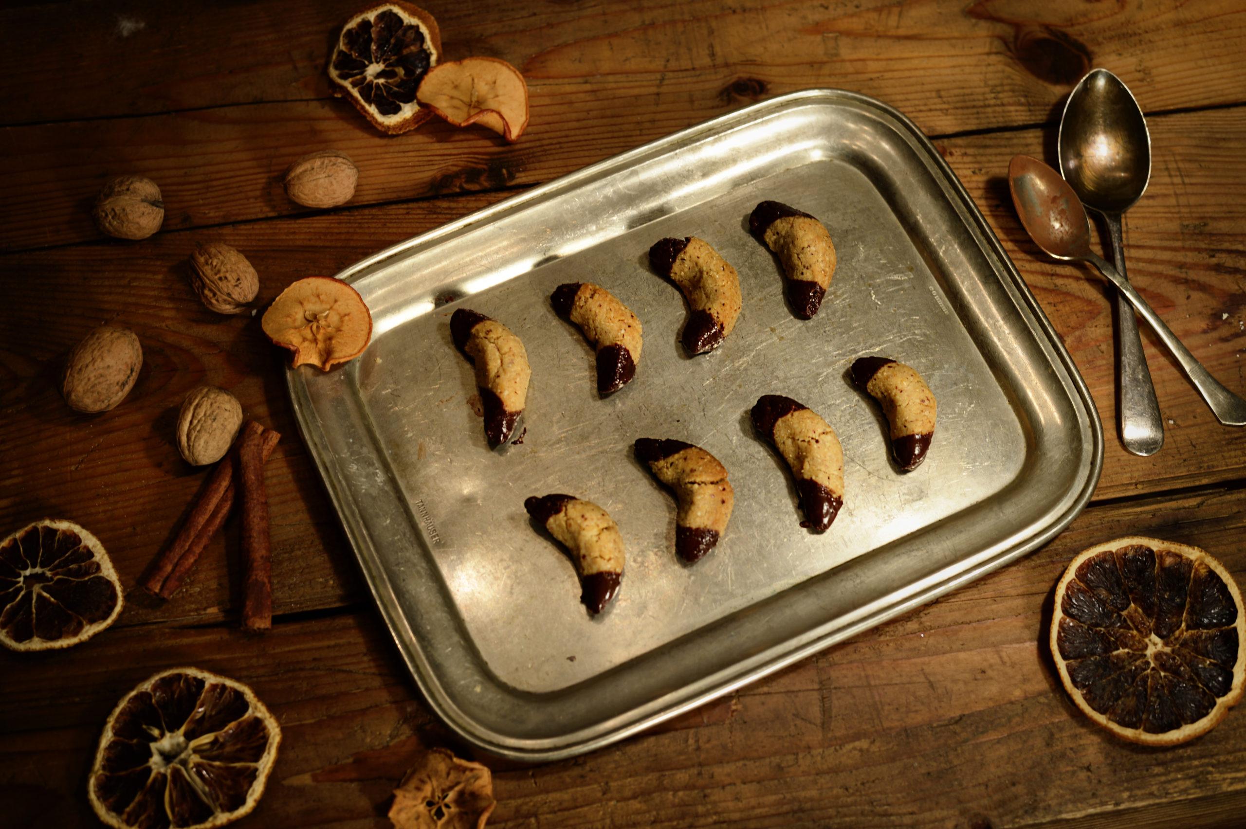 Ořechové rohlíčky