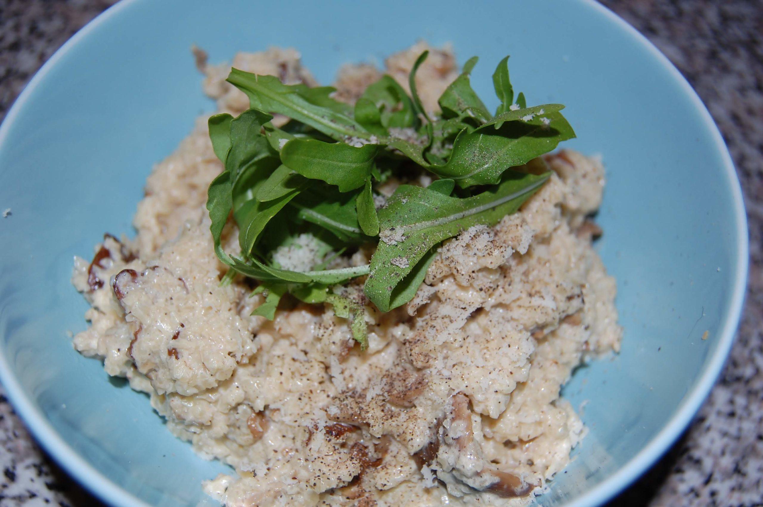 Krémové houbové rizoto z květáku