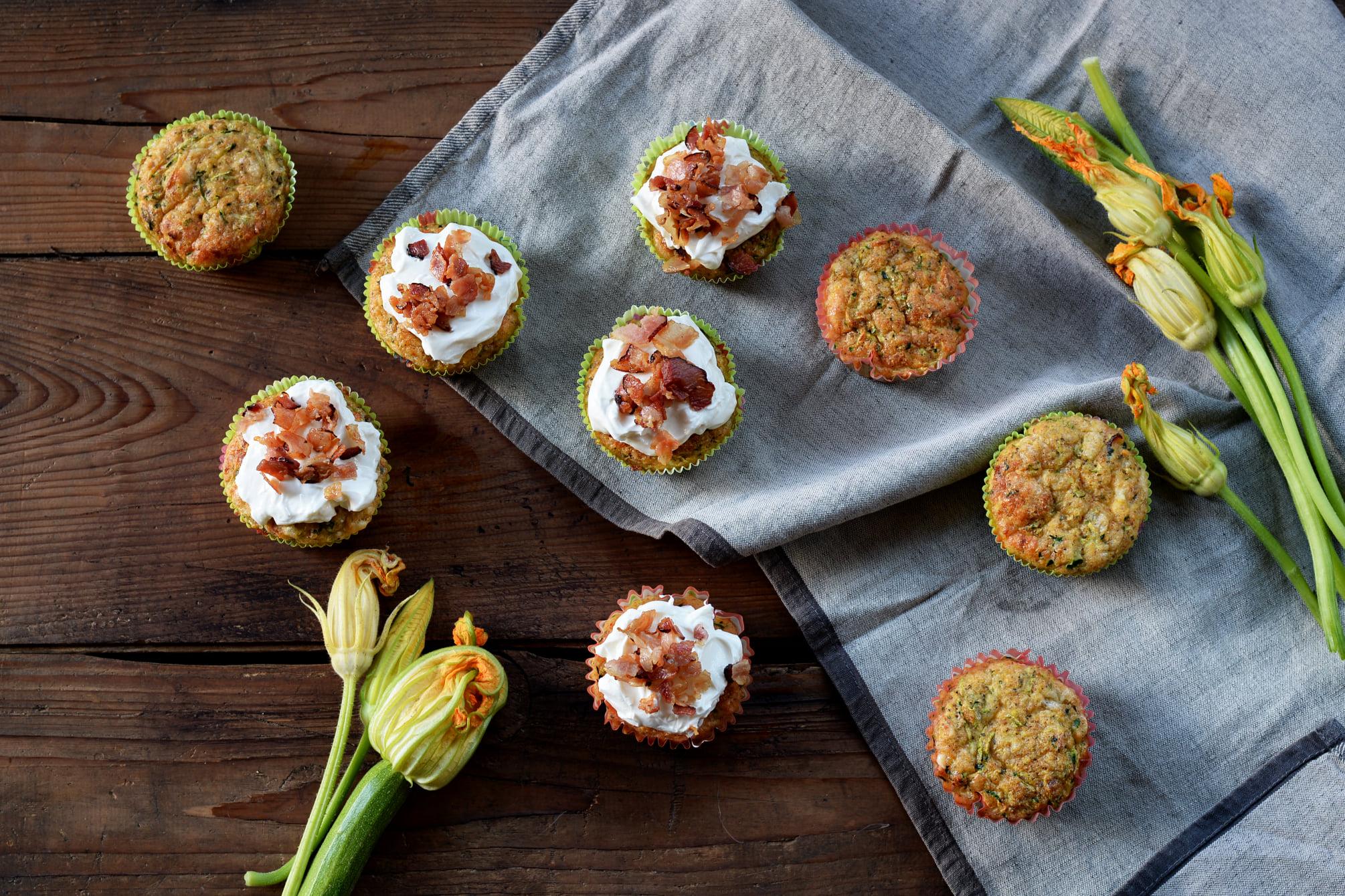 Cuketovo-sýrové muffiny