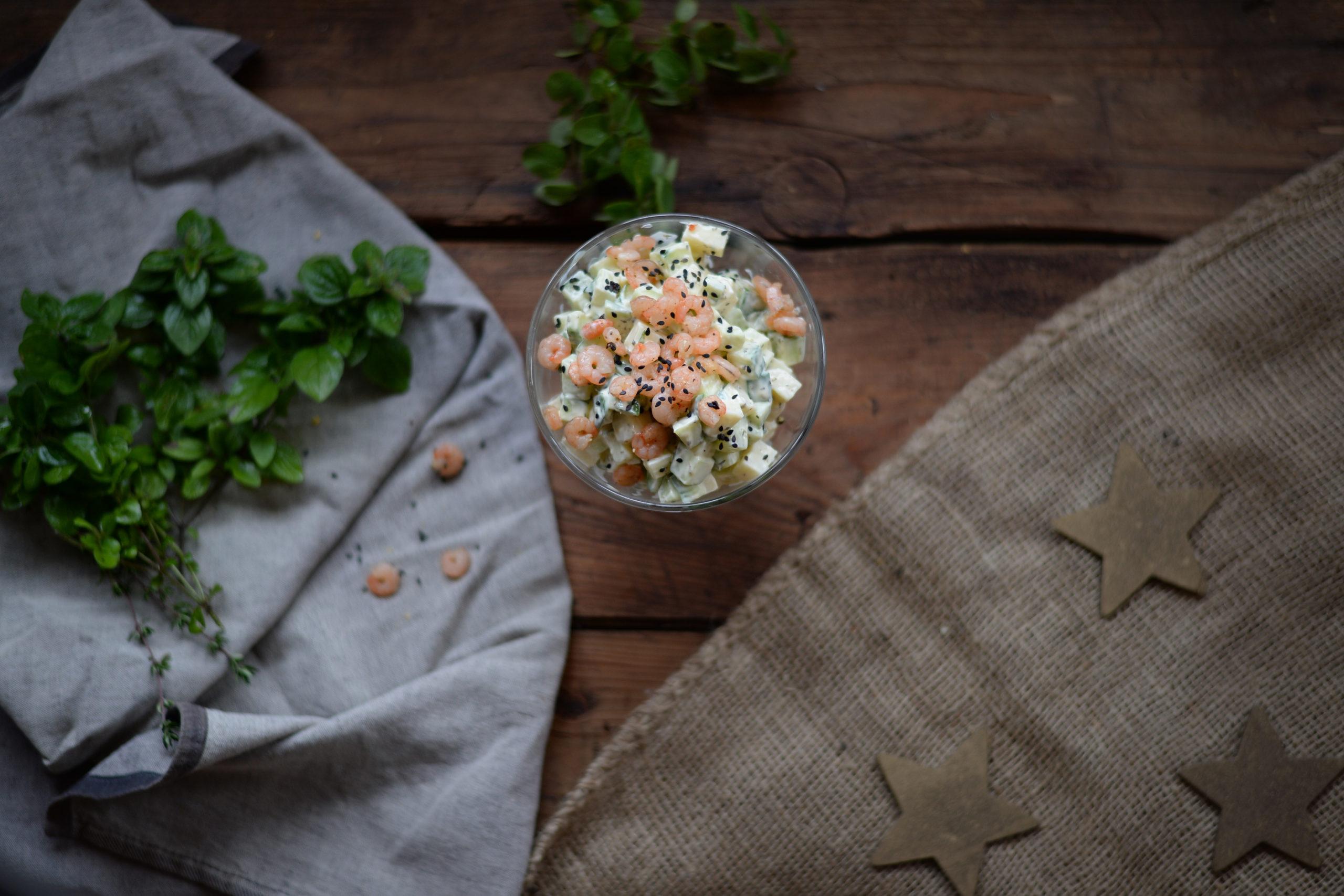 Sýrovo-krevetový salát