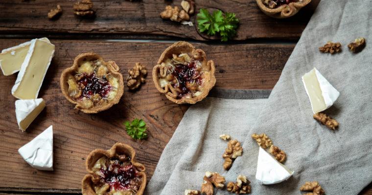 Košíčky s hermelínem a brusinkami