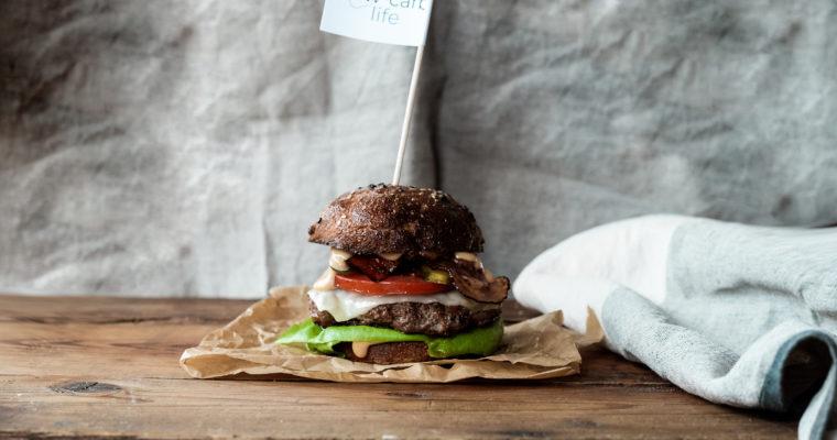 Low carb hovězí burger